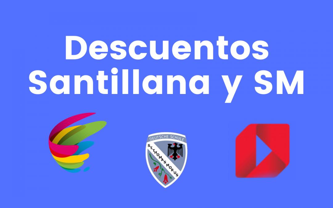 Descuentos 2021 editoriales SM y Santillana